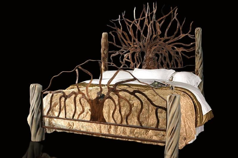 Unique King Size Beds Hand Made Custom King Size Metal Bed By Jf