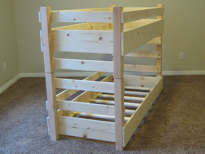 360° View Of Our Mini Small Crib Size Toddler Bunk Bed Without A Mattress,