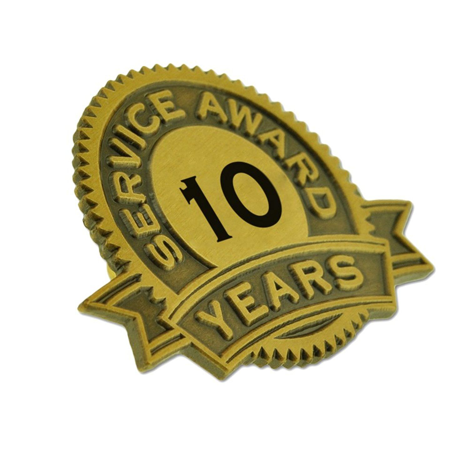Pinmart S 10 Years Of Service Award Lapel Pin Check Out This Great Product This Is An Affiliate Link Jewelrydesign Lapel Pins Service Awards Brooch Pin