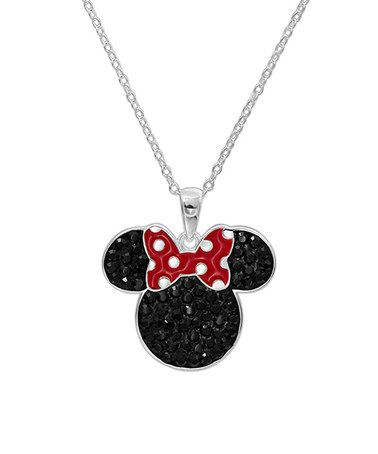 Love this Sterling Silver Minnie Mouse Pendant Necklace on #zulily! #zulilyfinds