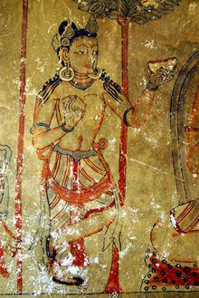 Ancient Buddha paintings uncovered in Nepalese cave   尼泊爾