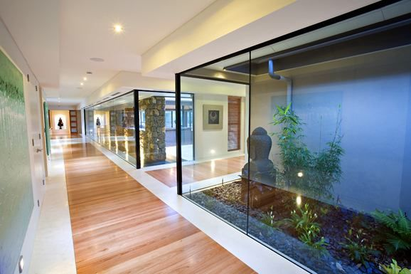 Entrance hallway home design pinterest estilo for Casas modernas estilo zen