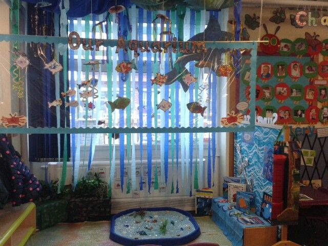 Classroom Aquarium Ideas : We have created an aquarium role play to support our