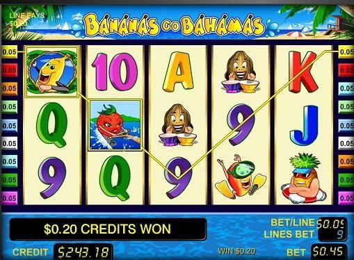 Kuvaus pelikoneen verkossa Bananas go Bahama. Jos haluat hedelmiä, niin kone on täynnä niitä. Bananas go Bahamas kuuluu klassisen yksiköitä, jotka tuovat pelaajien rahat hetkellä, jolloin seisoo todellinen pelihalleissa. Hyvän bonuksia ja suuri määrä maksuja, raon pitkään voitti toppeja keskuudessa pelaajille.   Rakenne slotit Hede
