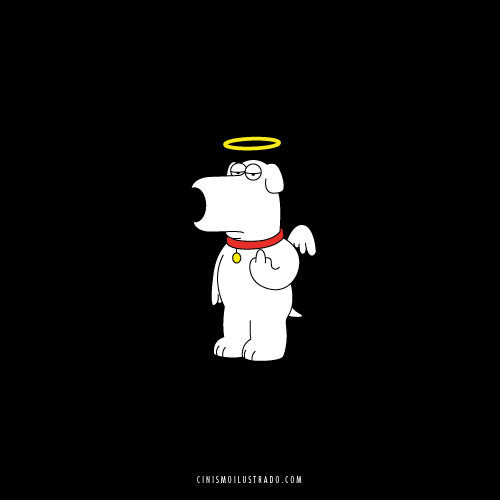 A message from Brian Griffin to Seth MacFarlane / Brian Griffin tiene un mensaje para Seth MacFarlane.