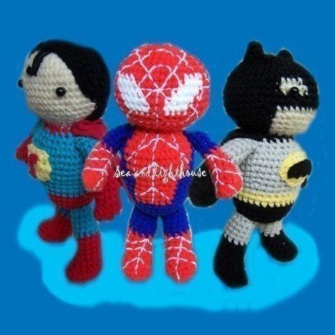 Instand Download Amigurumi Crochet PDF pattern - Set of 3 Hero ...