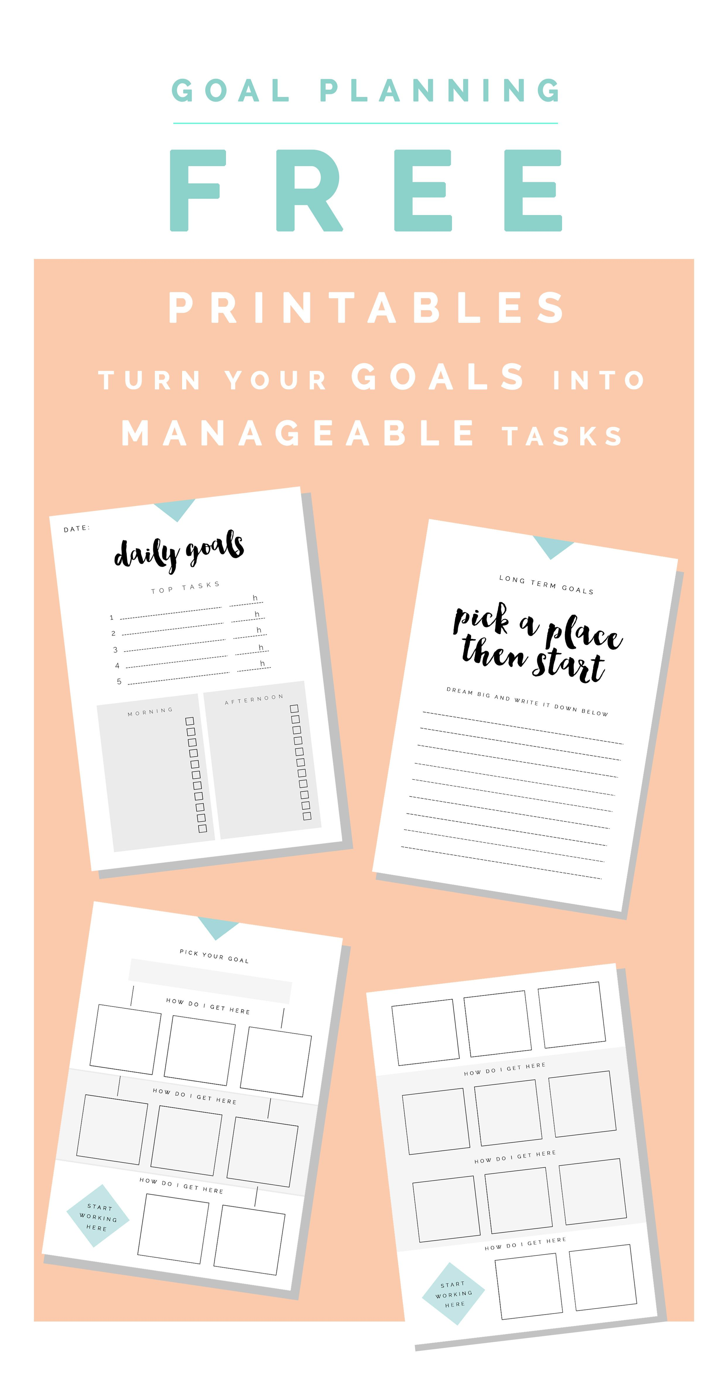 How To Pick The Perfect Planner One Goals Free Printables