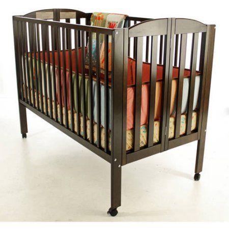 Dream On Me 2 In 1 Folding Full Size Crib Espresso, Brown