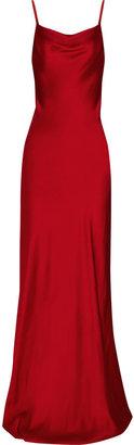 ShopStyle: Michael Kors Sateen-crepe gown