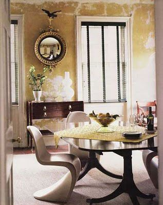 Old New Pairing Antique Dining Tables With Contemporary Chairs - Traditional dining table with contemporary chairs