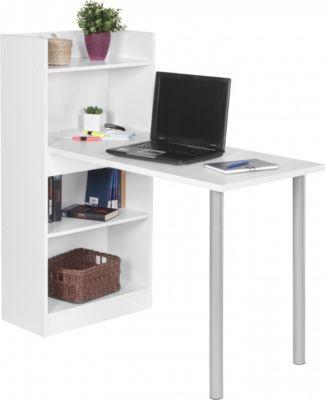 Computertisch modern  Wohnling WOHNLING PC-Schreibtisch modern mit Regal 121,5 x 120 x ...