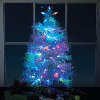 White Fiber Optic Christmas Tree | Fiber optic christmas ...