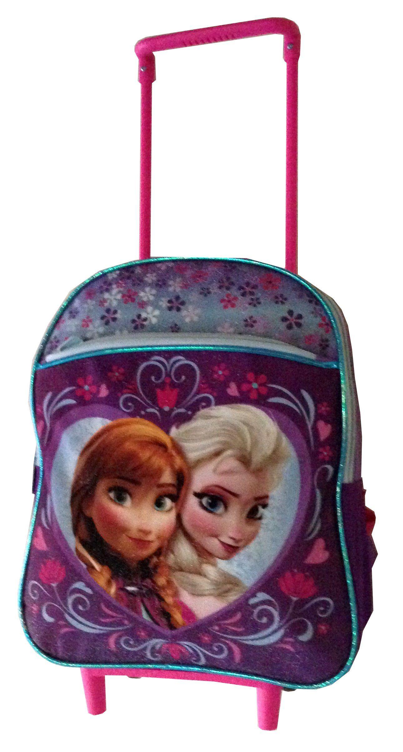 Disney Frozen Rolling Backpack w/ Wheels ~ Princess Anna & Elsa ...