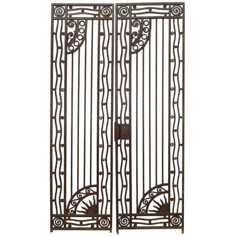 French Art Deco Wrought Iron Gates French Art Art Deco Design Art