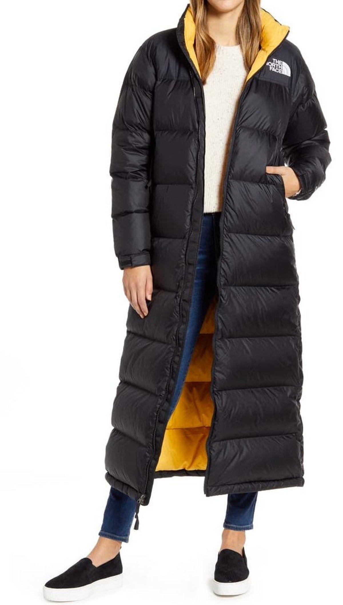 Northface Nuptse Long Down Coat Women S Jackets [ 2114 x 1200 Pixel ]