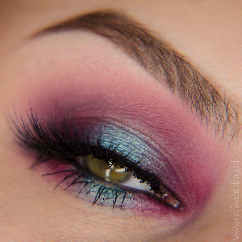 turquoise purple smoky