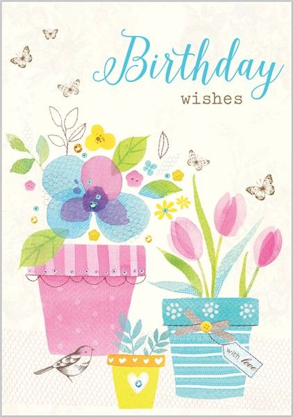 Card Ranges » 7570 » Flower Pots - Abacus Cards - Greetings Cards, Gift Wrap & Stationery