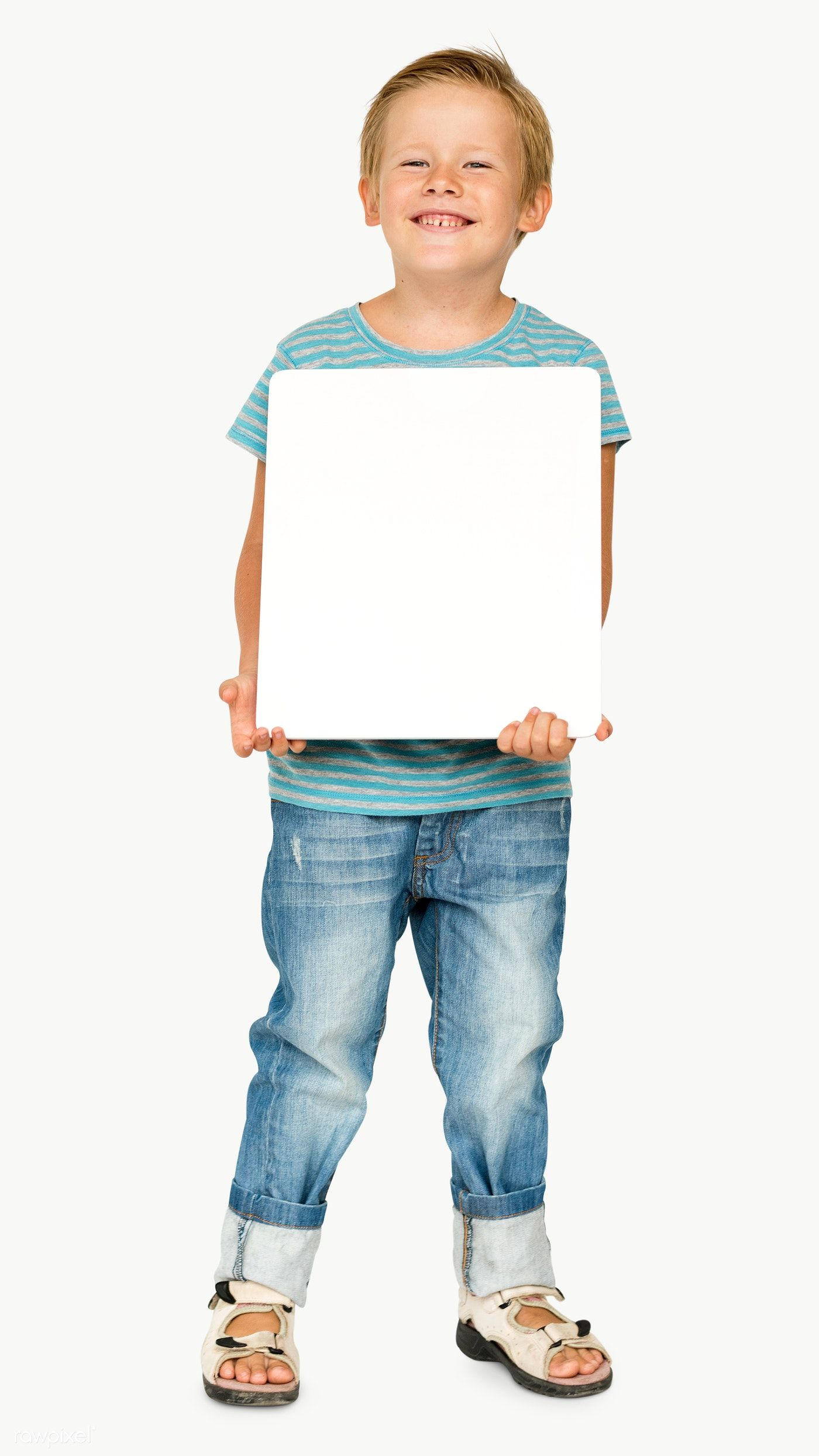 Download Premium Png Of Cute Little Boy With An Empty Board Transparent Cute Little Boys Studio Portraits Design Mockup Free