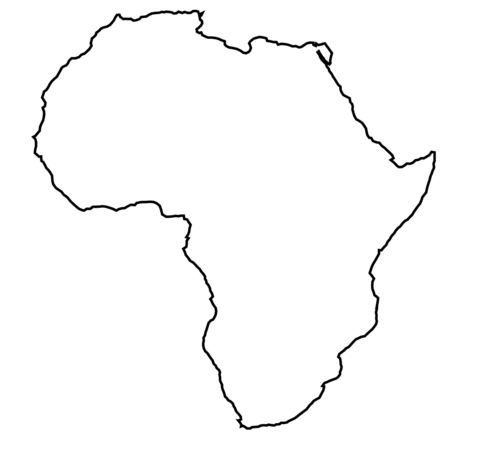 Africa Stencil Made from 4 Ply Mat Board by WoodburnsNewEngland