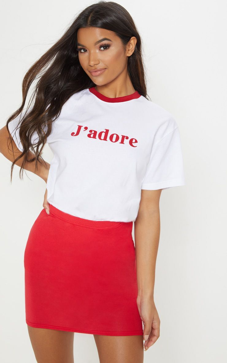 cf8c7be706 Basic Jersey Red Mini Skirt in 2019 | Products | Red mini skirt ...