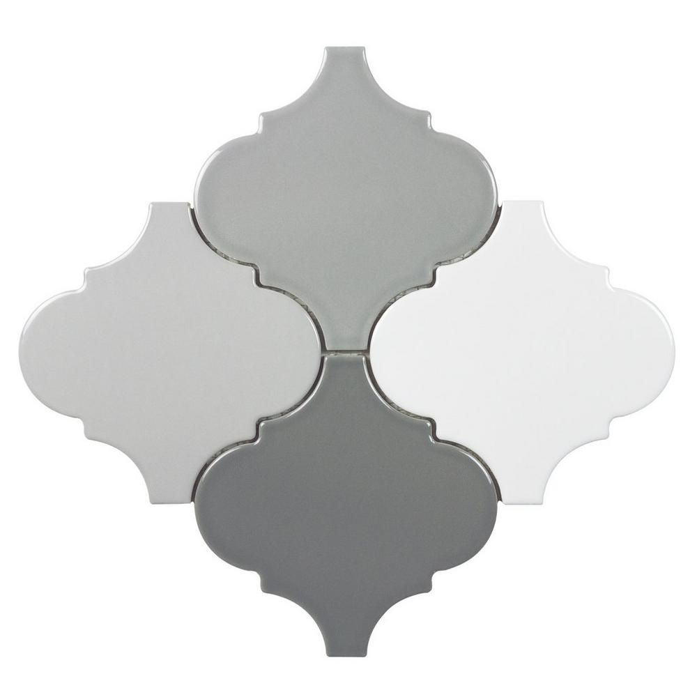 Floor And Decor Arabesque Tile Multi Color Arabesque Porcelain Mosaic  Cheap Remodeling Ideas
