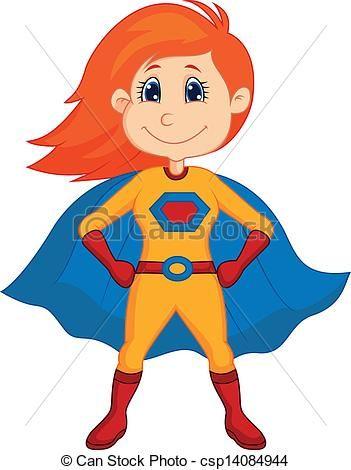 Vector Superhero Kid Cartoon Superhero Cartoon Superhero