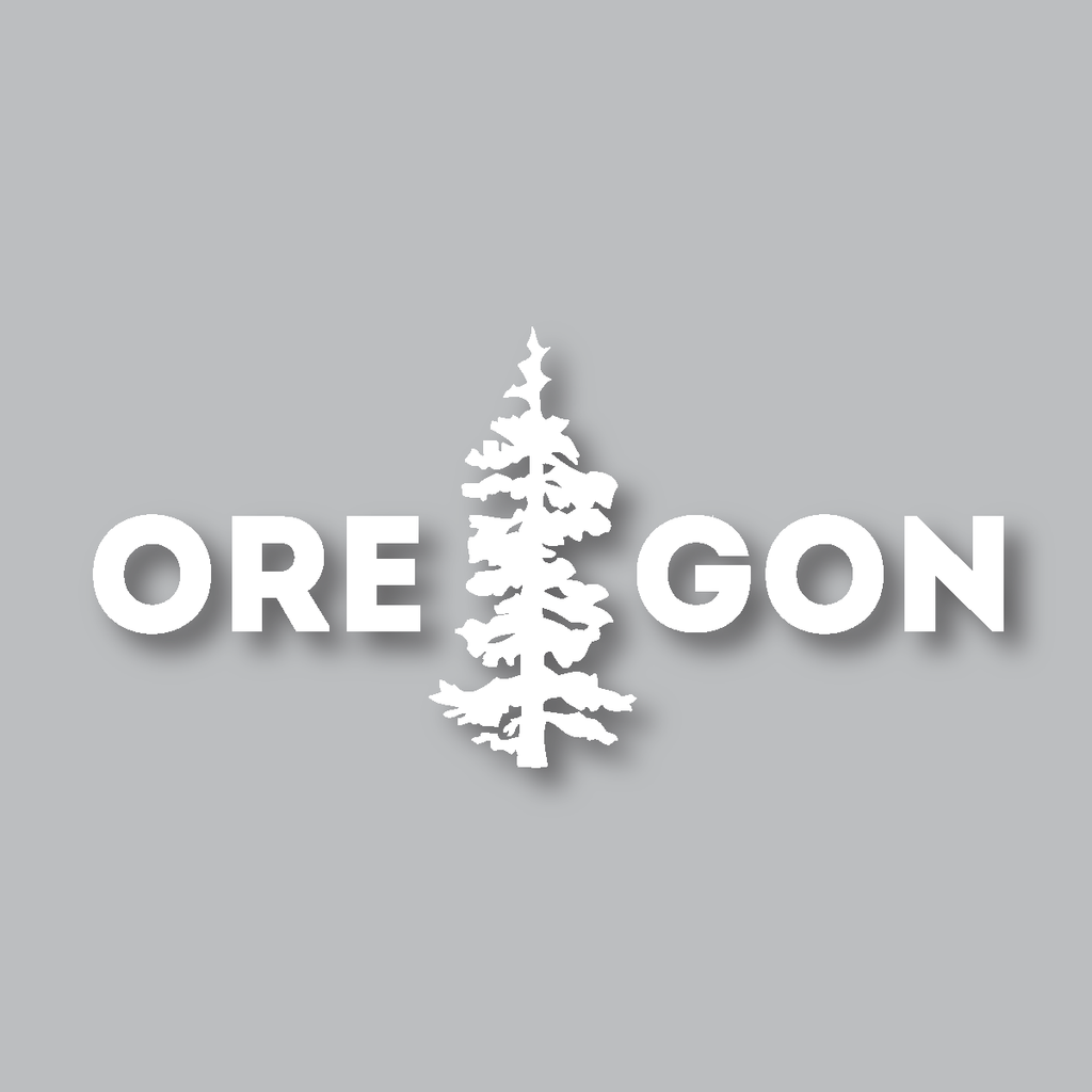 Oregon Tree Diecut Sticker Oregon trees, Oregon, Cannon