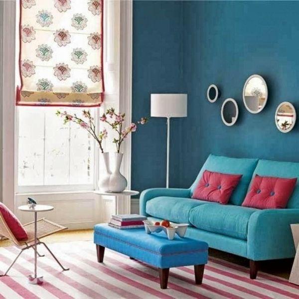 Wandgestaltung Wohnzimmer Streifen Farbideen Wände