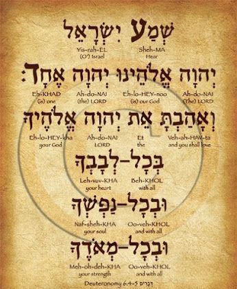 The Shema Israel prayer in Hebrew with translation  #prayer #hebrew