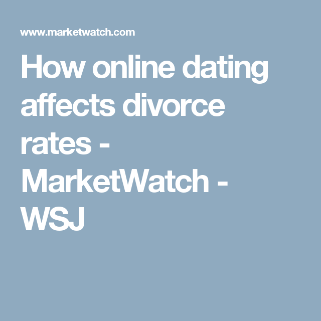 Online dating divorce rate