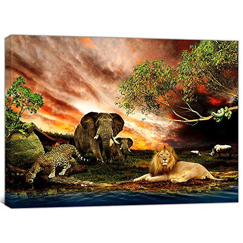 Global Artwork Printed Posters And Prints Animals Tiger E Https Www Amazon Com Dp B015h1hlp8 Ref Cm Sw R Pi Dp Lion Wall Art Poster Prints Animal Wall Art