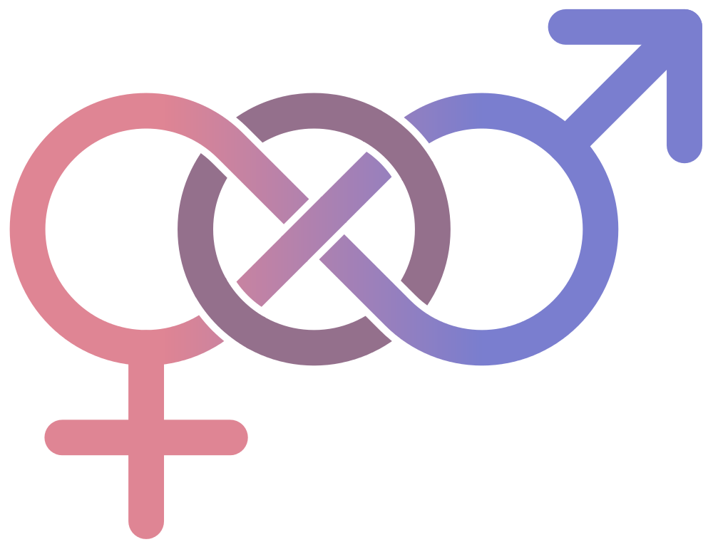 A bisexual symbol consisting of a male sign and female sign ...