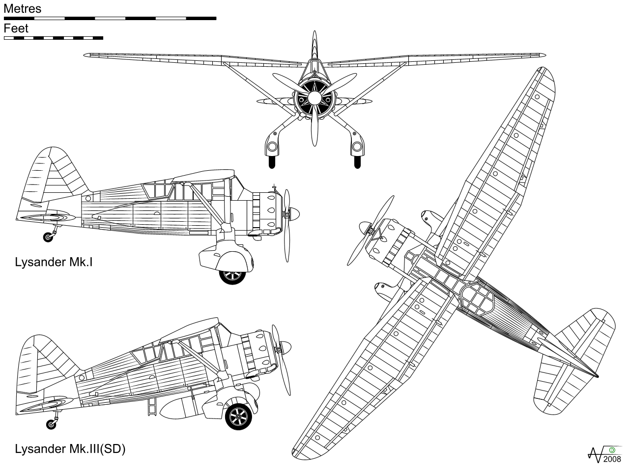 Orthographic Drawing Of Plane