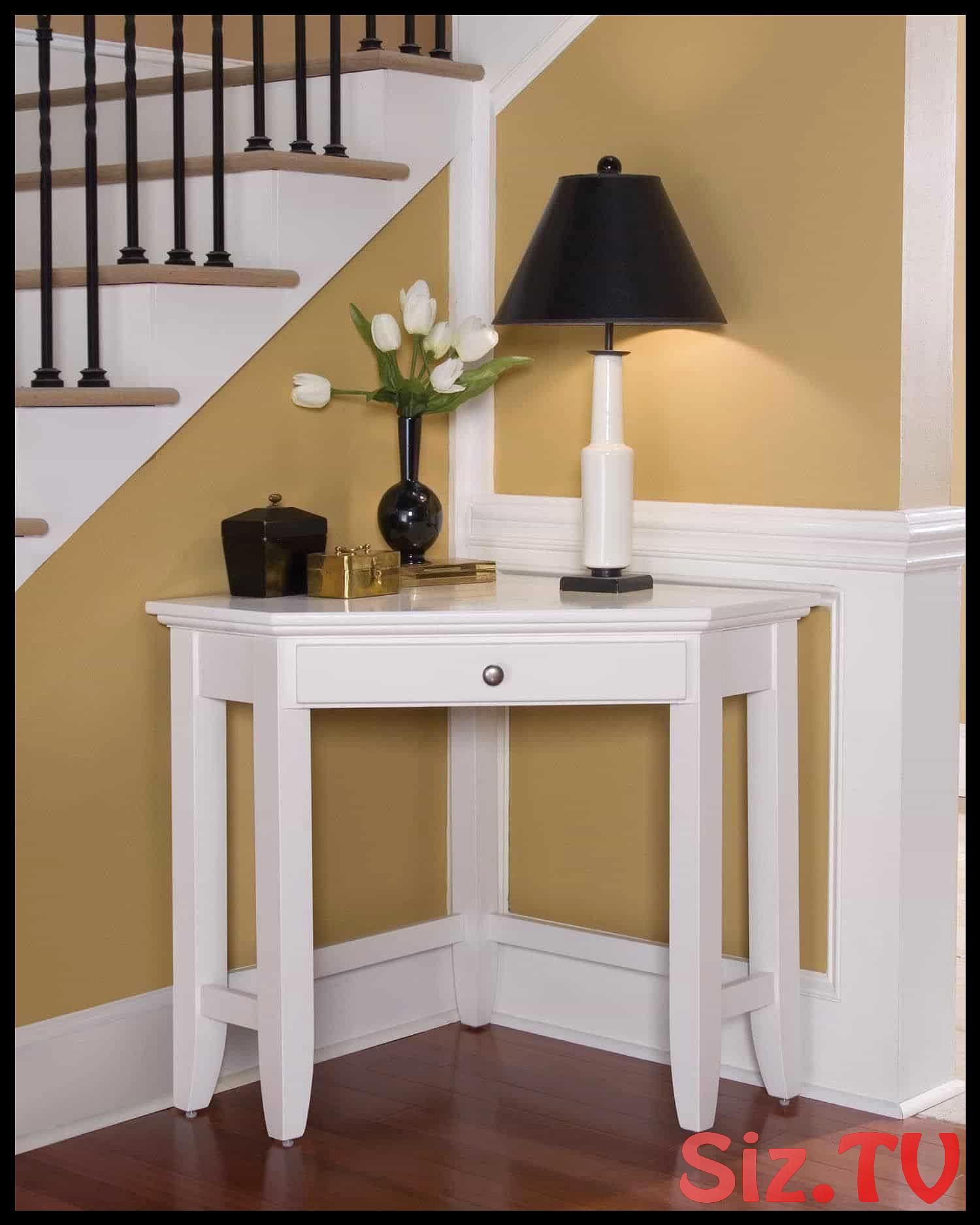Corner Table With Table Lamp Under Stair Corner Table Corner Furniture Corner Table Designs