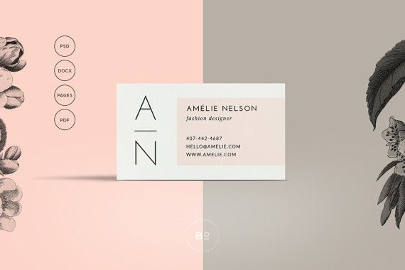 Beauty Business Card Design Psd Business Card Template Etsy Printable Business Cards Modern Business Cards Business Card Psd