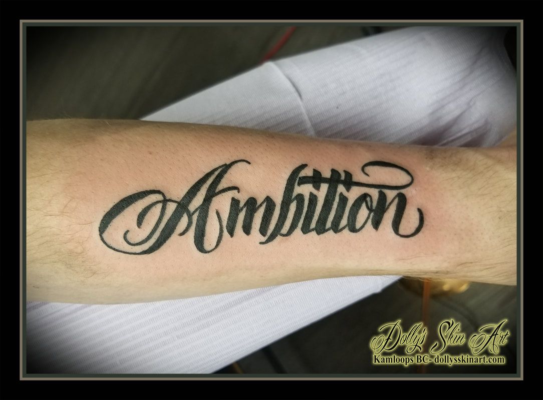 Ambition For Cody Ambition Tattoo Tattoo Lettering Steampunk