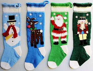 Patterns For Knitted Christmas Stockings Knitted Christmas