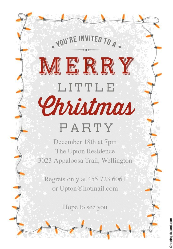 Free Printable Christmas Party Invitations  Party Invitations