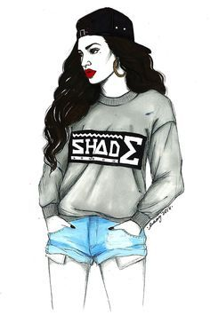 draw drawing pretty chicana swag style gang girl