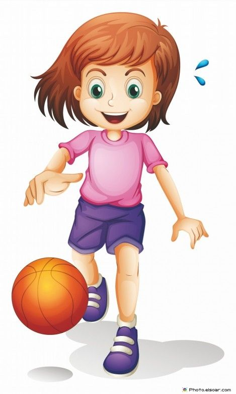 Little girl playing basketball | Kids Clip Art | Pinterest ...