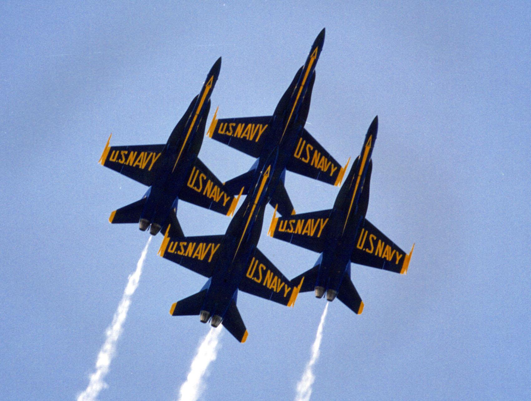 Blue Angels Formation Image Vector Clip Art Online Royalty
