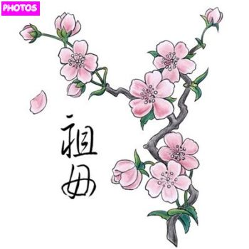 this is a rush for a tattoo that is different from the cherry blossoms have created