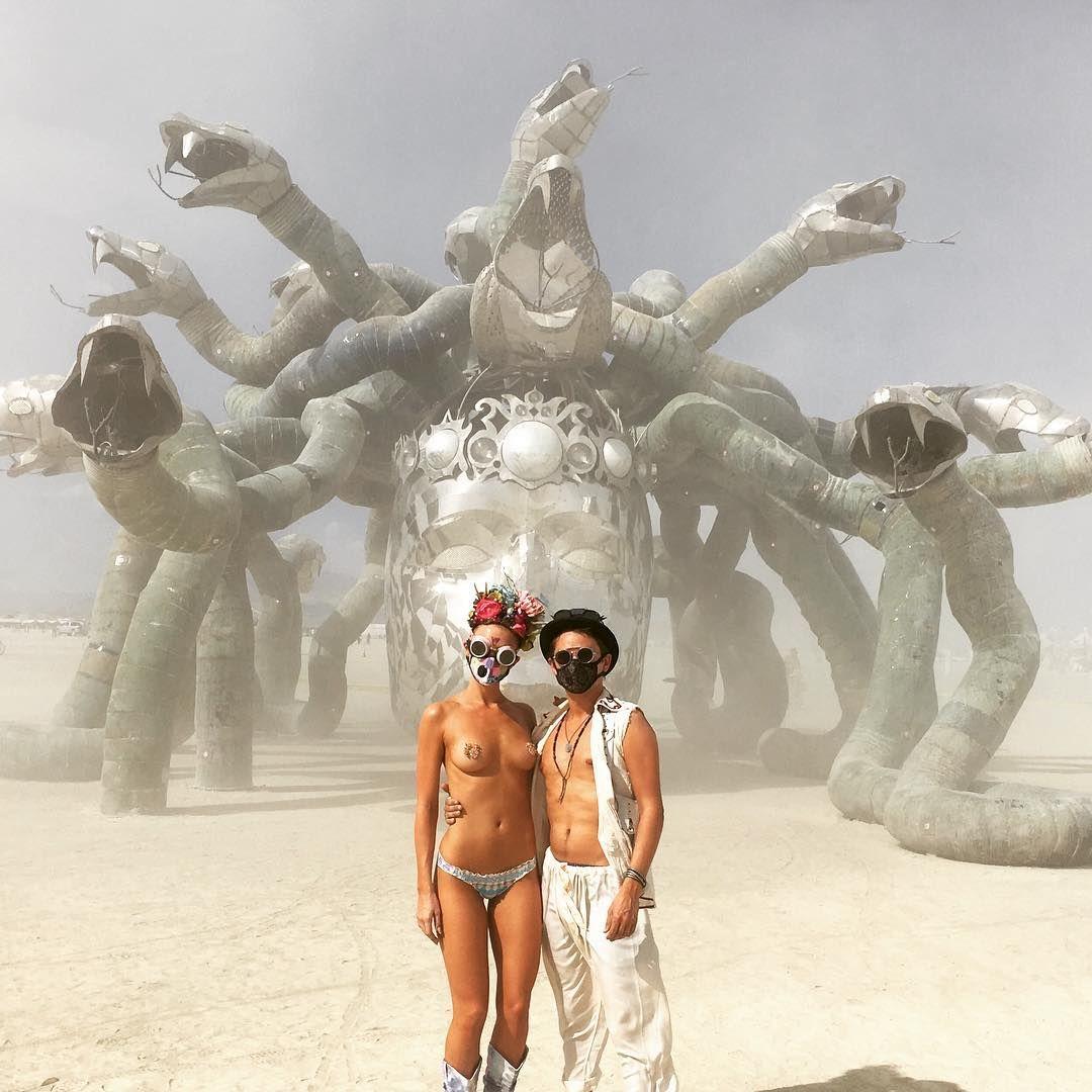 MUSE Matt Bellamy And Elle EvansSeptember Burning Man - Fantastic photos of burning man counter culture event taking place in the desert