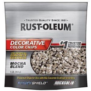 Rust-Oleum 1 lb  Mocha Decorative Color Chips-301238 - The