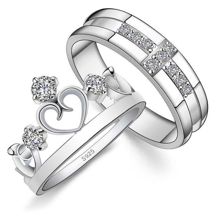 His N Hers Engagement Matching Rings ℍ Ž Hër ź