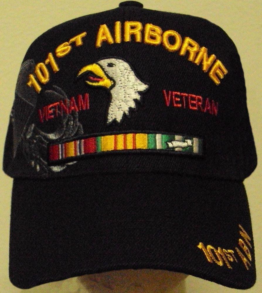 101ST AIRBORNE DIV SCREAMING EAGLE PARACHUTE WINGS VIETNAM VETERAN VET CAP  HAT  PREMIUMHATS  BaseballCap c8001e6084c5