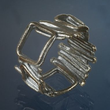 rings - P 17 - Ring: oxidized silver