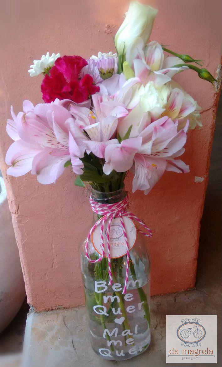 Garrafas personalizadas... Da Magrela Paisagismo Flores Fone: (18) 3222-4280 Whats: (18) 99710-7731