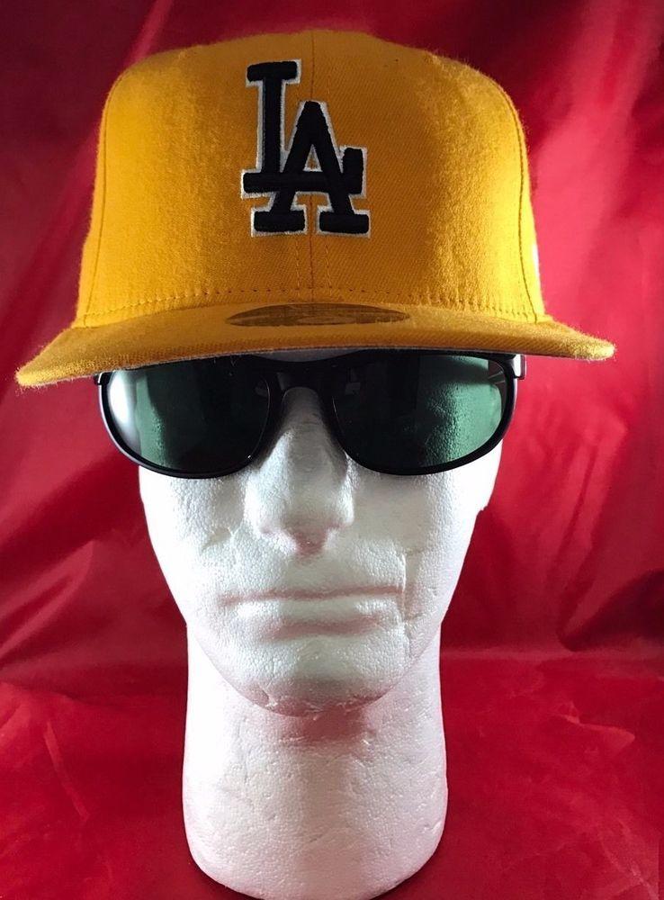 New Era 59fifty Mlb La Dodgers Yellow With Black Dodger Front La Logo Flat Hat Newera Losangelesdodgers New Era 59fifty La Dodgers Flat Hats