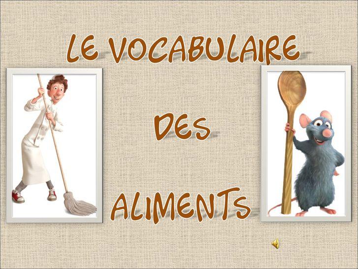 Le vocabulaire des aliments avec des exercises pour utiliser les
